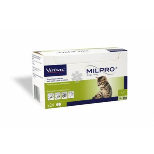 MILPRO 4 mg/10 mg, dengtos tabletės katėms , N1