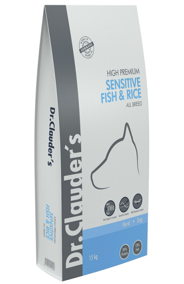 Dr. Clauders Hight Premium adult FISH & RISE 15kg.