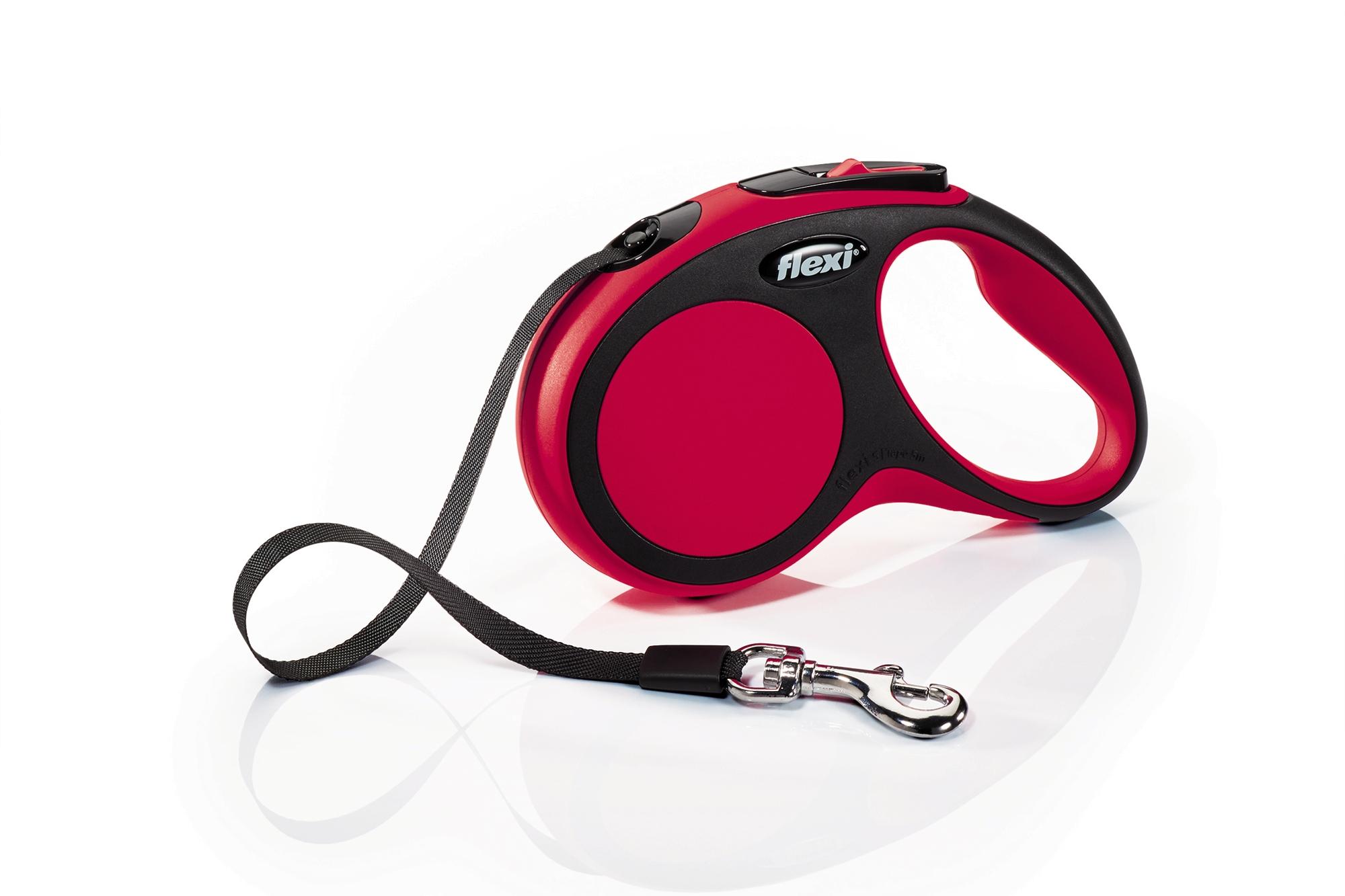 Flexi New Comfort S juosta Raudonas 5m/15kg