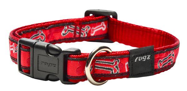Rogz antkaklis RED BONE HB03CC 34-56cm