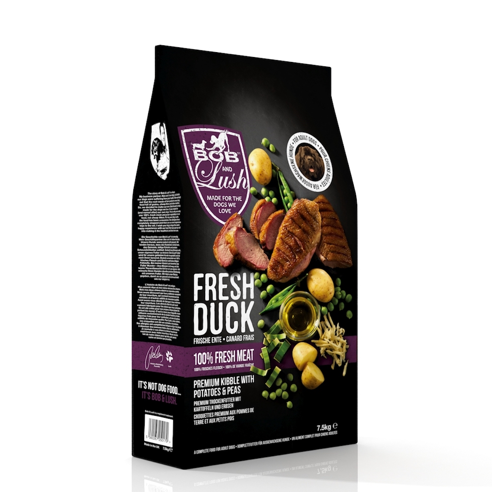 Bob and Lush 60% Fresh Duck Kibble Adult  7,5kg