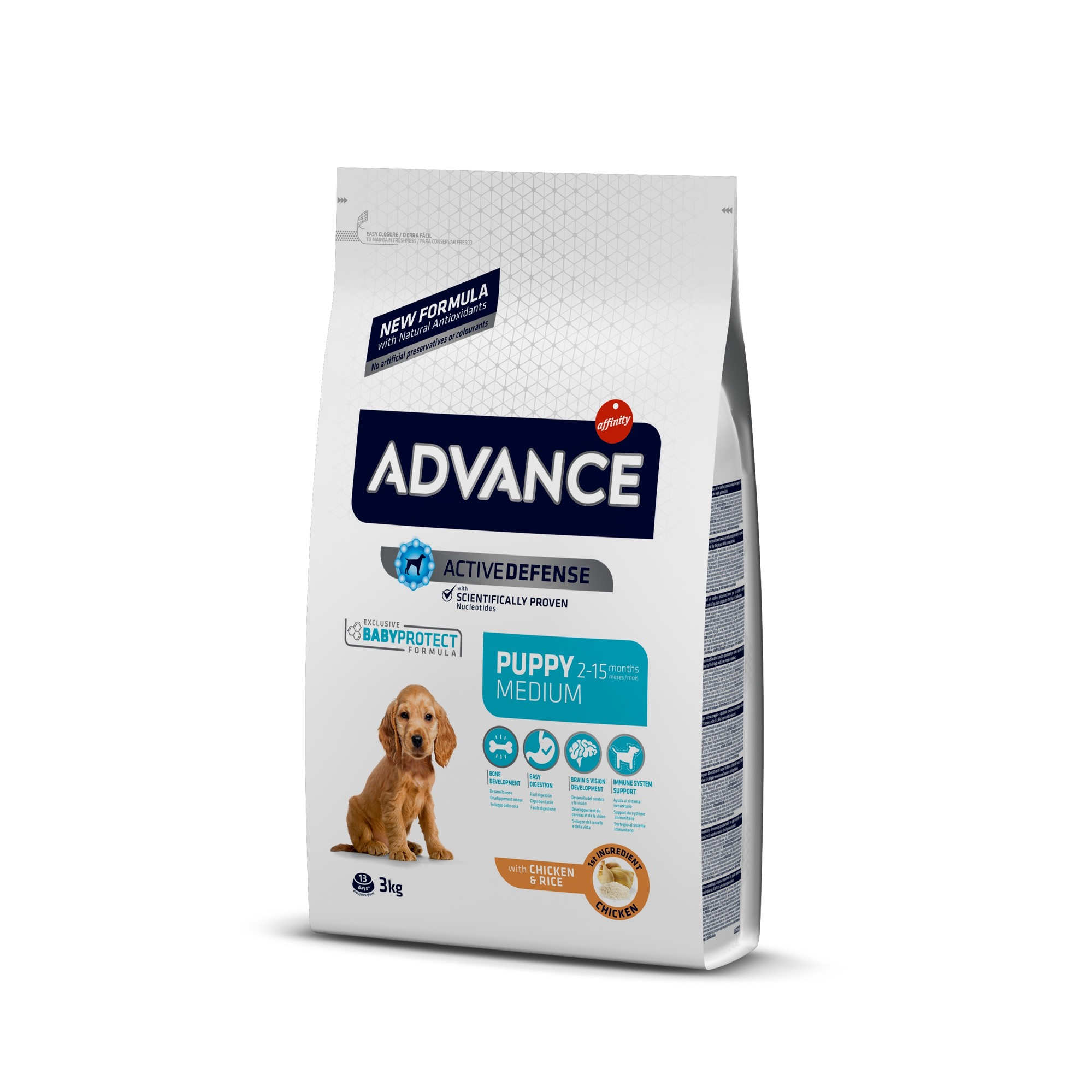 Šunų maistas Advance puppy protection medium 3kg.