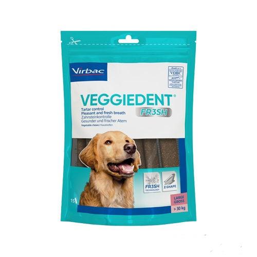 VIRBAC VeggieDent kramtukai dantų priežiūrai virš 30 kg. šunims 15vnt