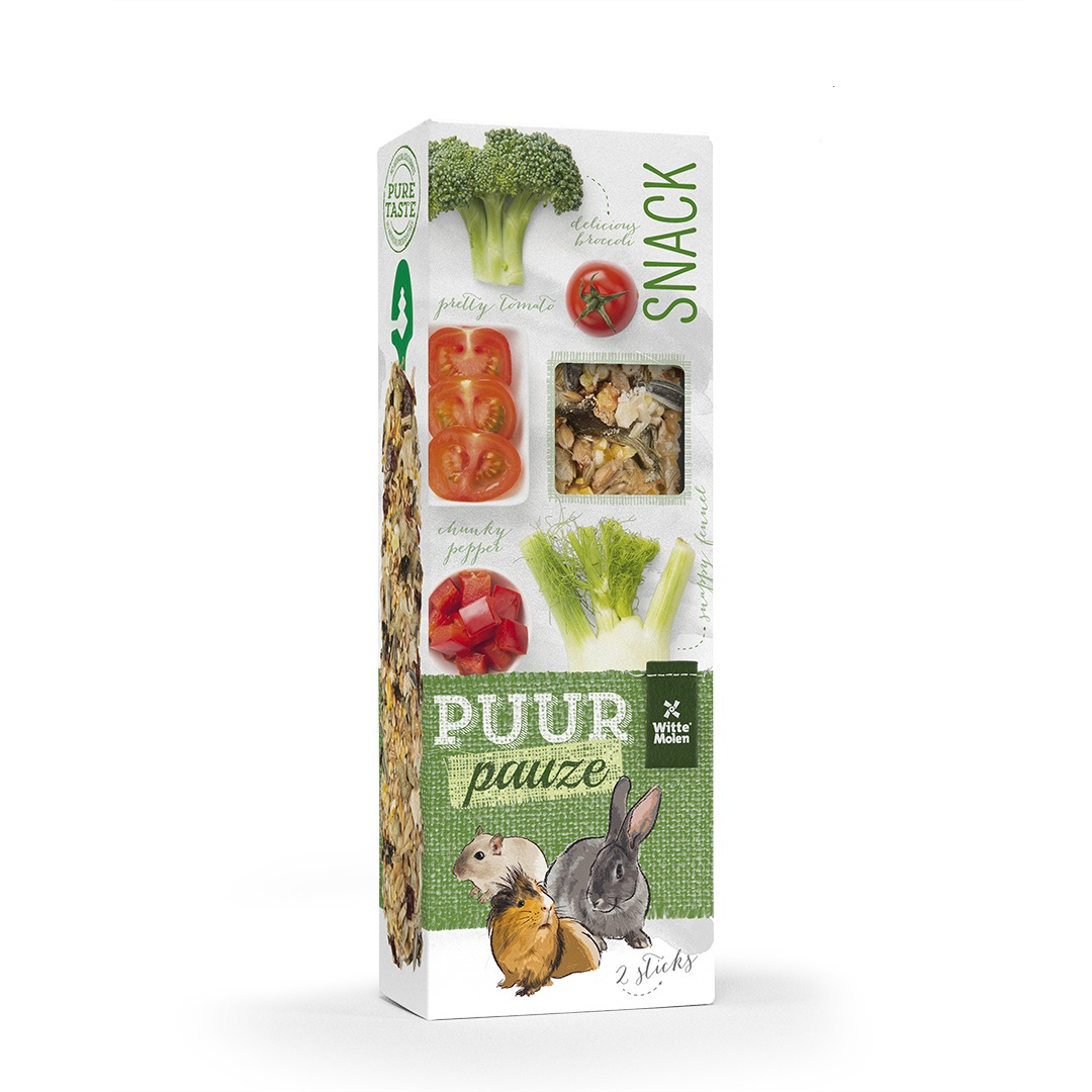 PUUR PAUZE gardėsis su brokoliais, pomidorais, pankoliais ir paprika 110 g , N2