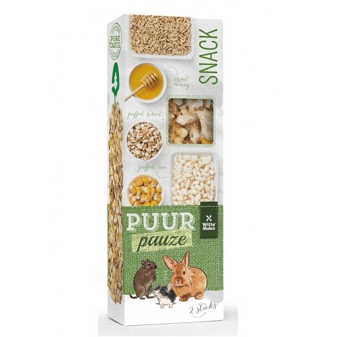 PUUR PAUZE gardėsis su pūstais ryžiais bei kviečiais, kukurūzais, avižomis ir medumi 110g, N2