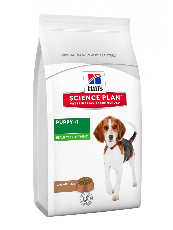 Hills Canine Puppy Healthy Development Lamb & Rice 12kg.