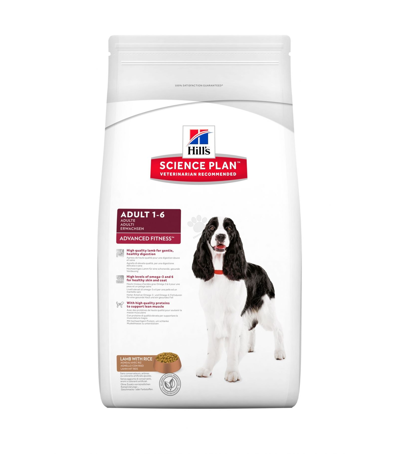 Hills Canine Adult Advanced Fitness Lamb & Rice 12kg.