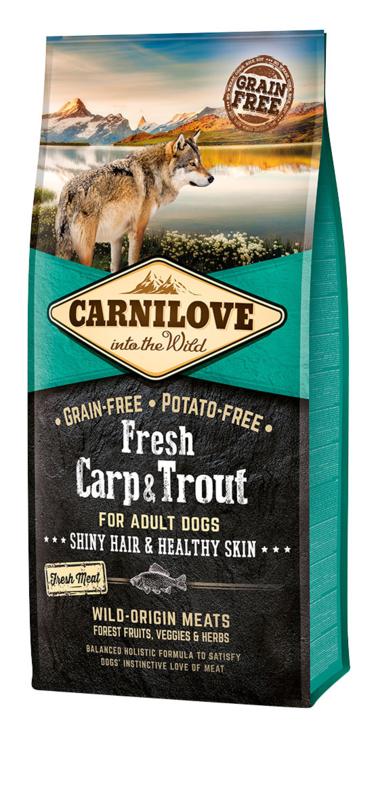 Begrūdis šunų maistas Carni Love Fresh Carp&Trout 1,5kg
