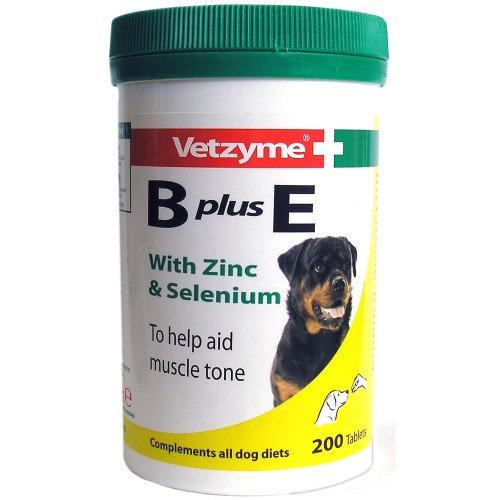 Vetzyme B+E papildas 200 tabl.