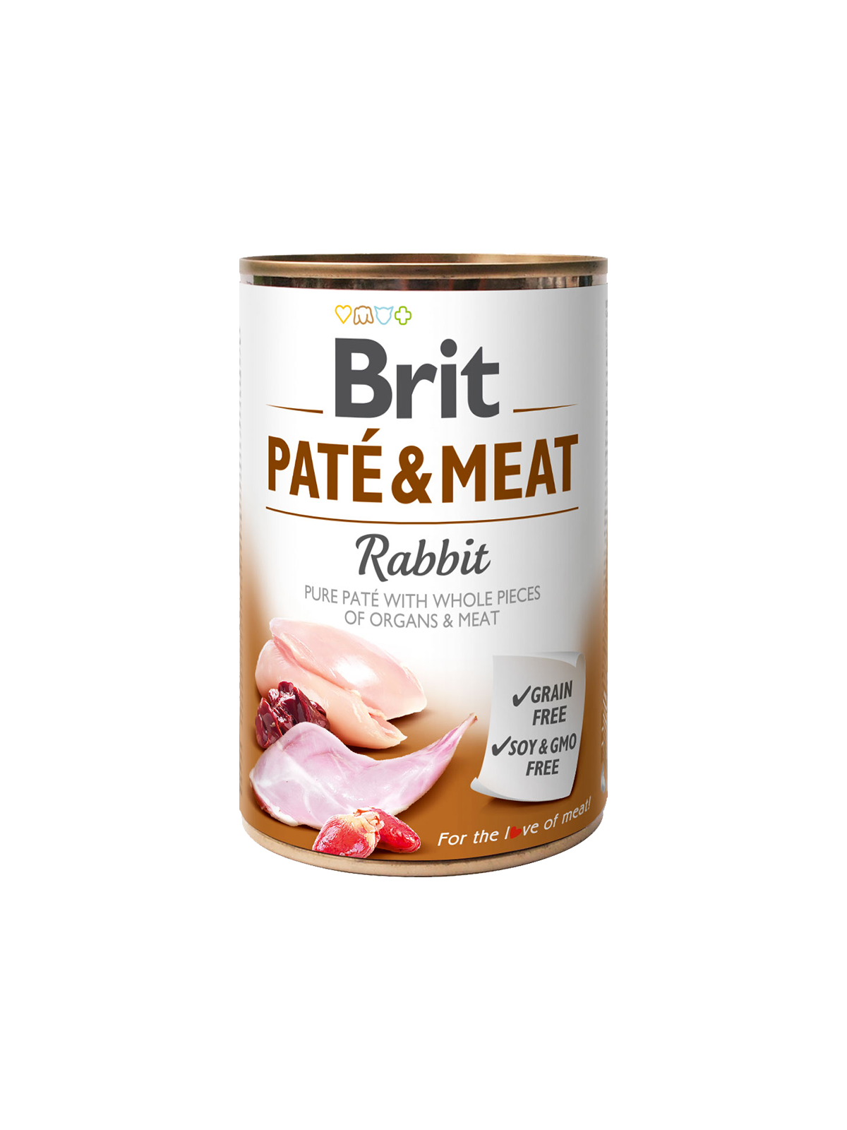BRIT CARE Boutiques Gourmandes Rabbit Pate & Meat 400gr