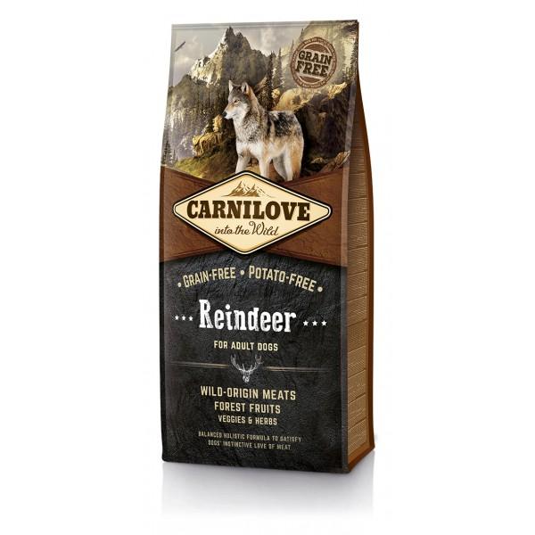 Begrūdis Šunų Maistas Carni Love Reindeer for Adult  12kg
