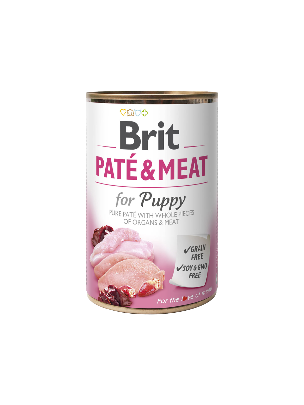 BRIT CARE Boutiques Gourmandes Chicken&Turkey for Puppy Pate & Meat 400gr