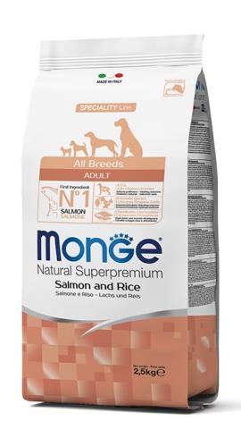 Monge All Breeds Adult su lašiša ir ryžiais 12kg