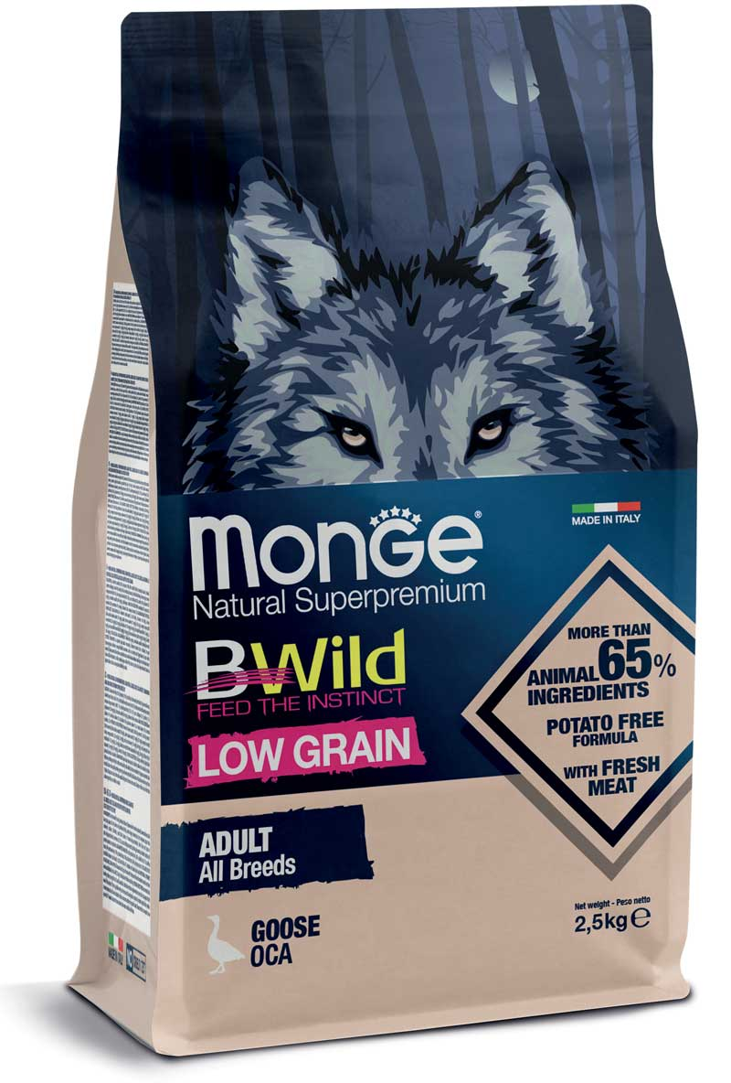 Monge  Adult GRAIN FREE Anchovies, potatoes & peas 12 kg