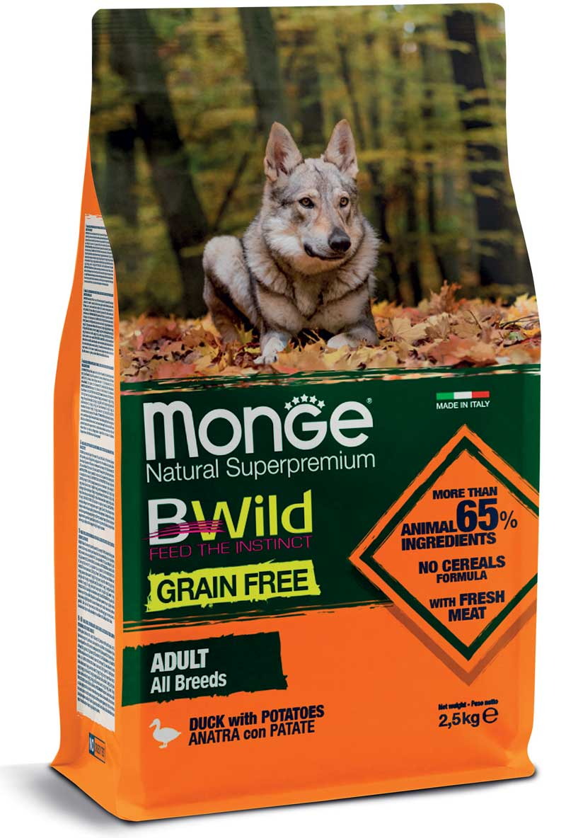 Monge Adult GRAIN FREE Duck & potatoes 12 kg