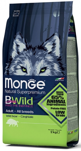 Monge BWILD All Breeds Adult Boar (šerniena) 7,5kg