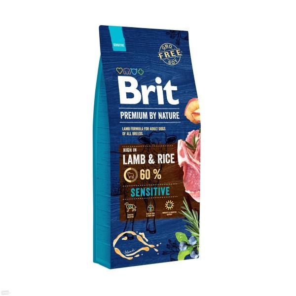 BRIT PREMIUM By Nature sensitive lamb & rice 15kg.