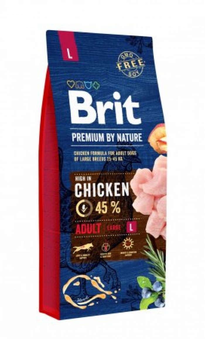 BRIT PREMIUM By Nature adult Large 15kg.