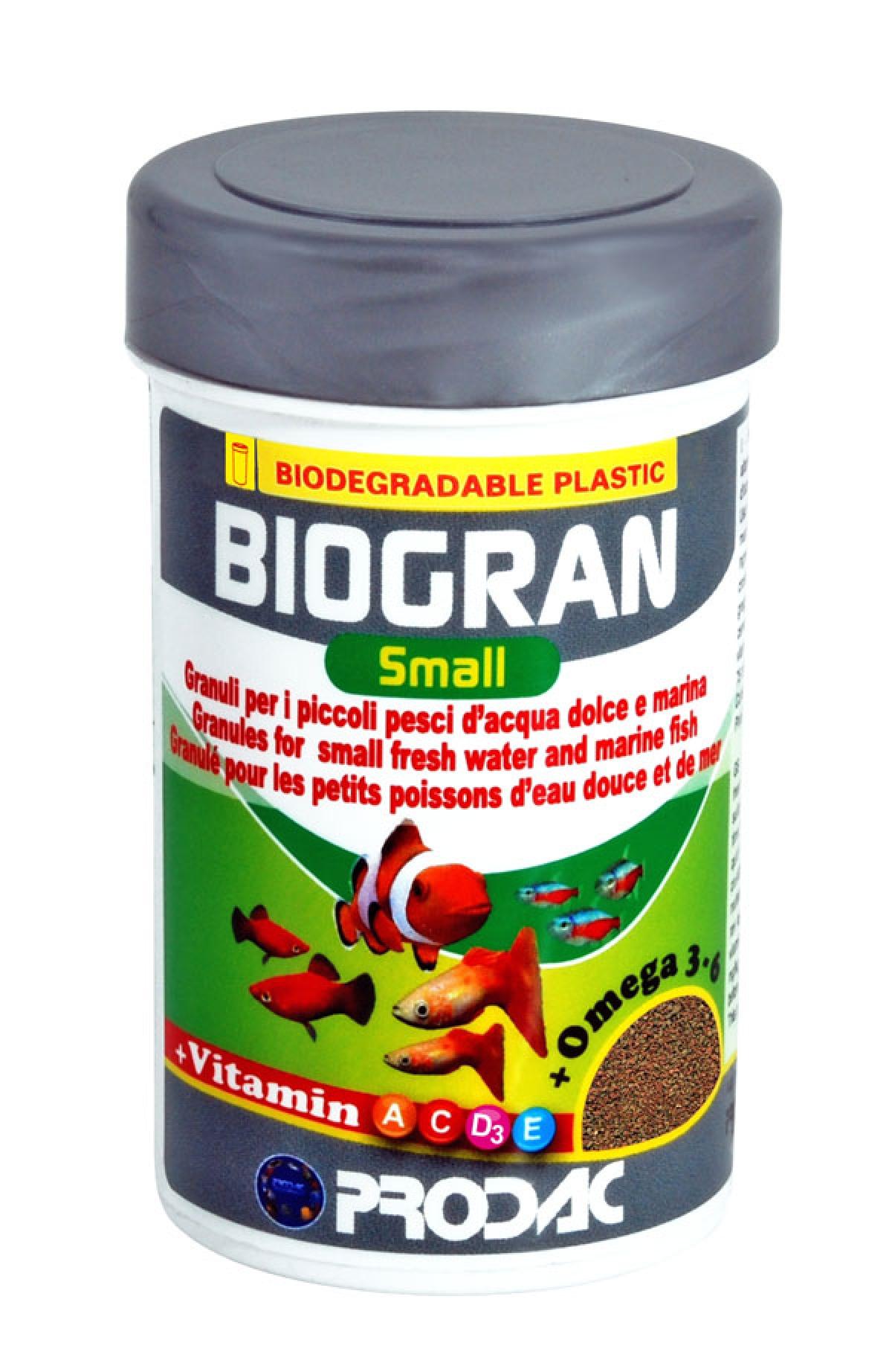PRODAC BIOGRAN  smulkios granulės žuvims 50ml-20g