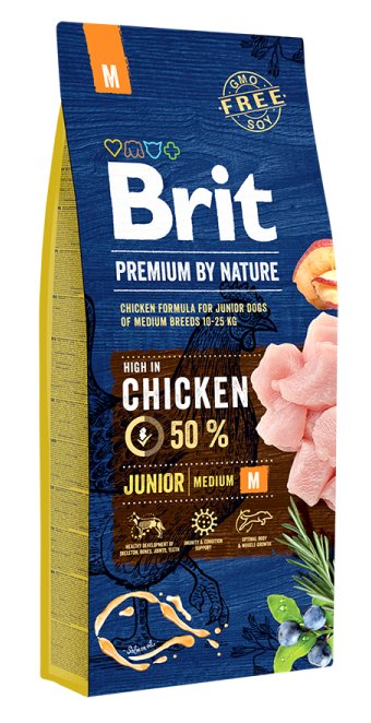 BRIT PREMIUM By Nature junior Medium 15kg.