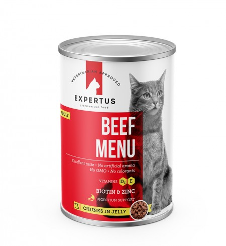 Expertus Cat Beef Menu konservai 400gr