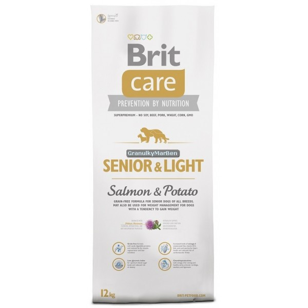 Brit Care Grain-free Senior Salmon & Potato 12kg.