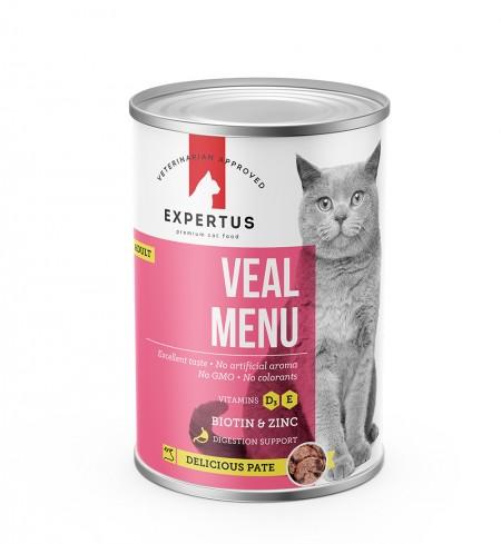 Expertus Cat Veal Menu konservai 400gr