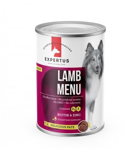 Expertus Dog Lamb Menu konservai 400gr