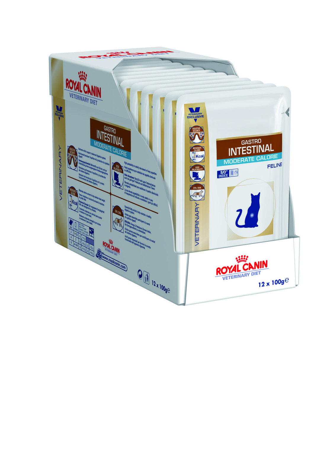 Royal Canin Gastro Intestinal Moderate Calorie Feline Wet 100g x 12vnt.