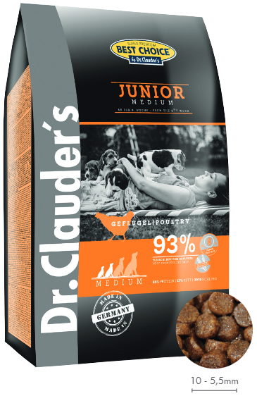 Dr. Clauders Medium Junior Chicken 12,5kg