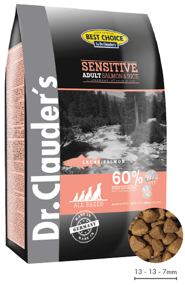 Dr. Clauders Sensitive Adult Salmon&Rice 4kg