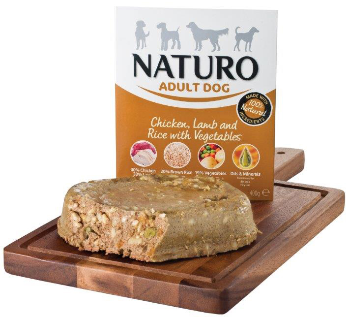 Naturo Adult chicken, Lamb & Rice with Vegetables  400gr