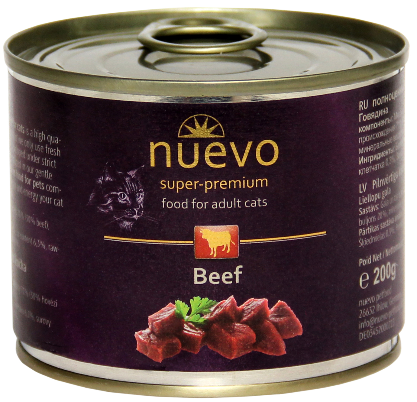 Nuevo Cat konservai Adult Beef 200gr