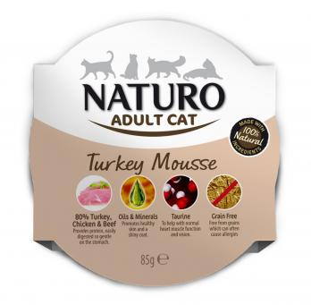 Naturo Cat Turkey Mousse 85gr