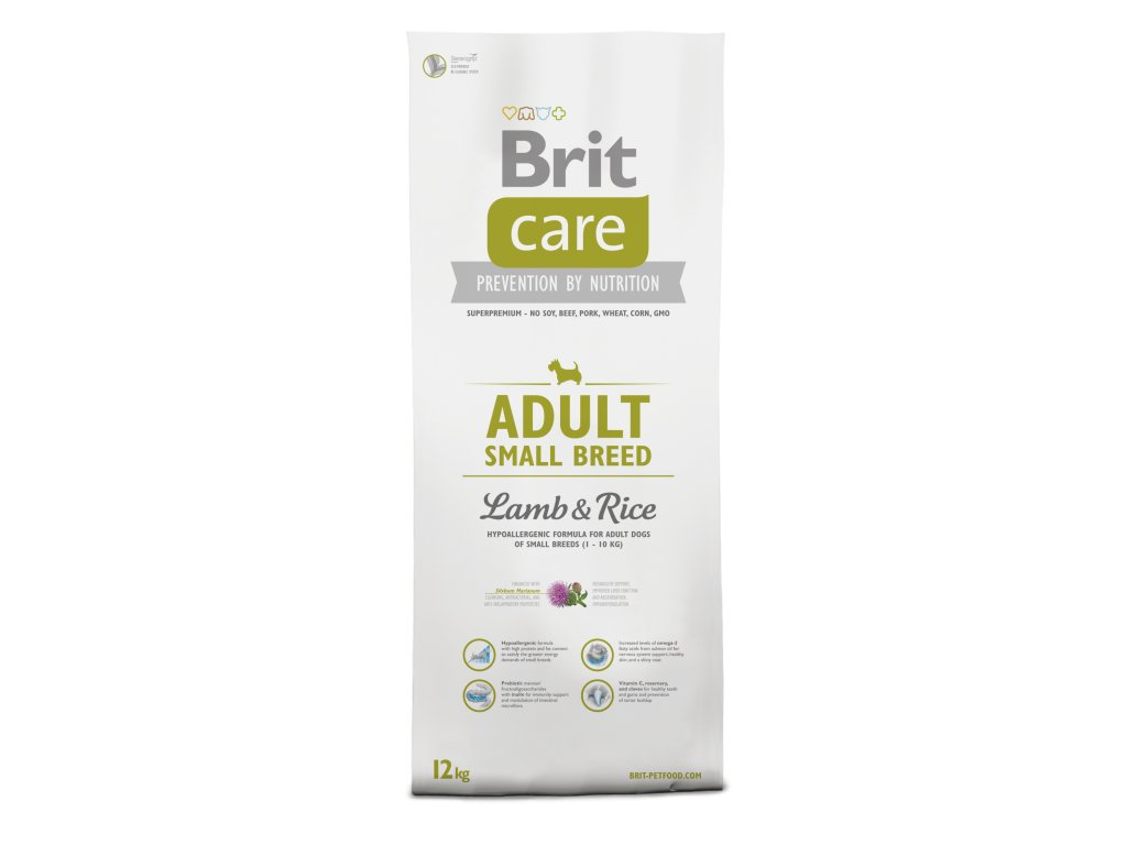 BRIT CARE Adult Small Breed Lamb&Rice 7,5kg.