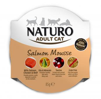 Naturo Cat Salmon Mousse 85gr