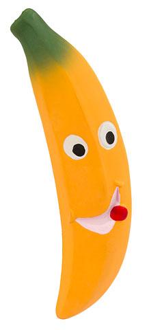 Lateksinis žaislas Bananas 20cm
