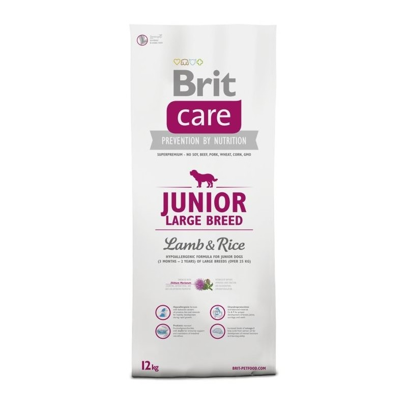 Brit Care Junior Large Breed Lamb & Rice 12kg.