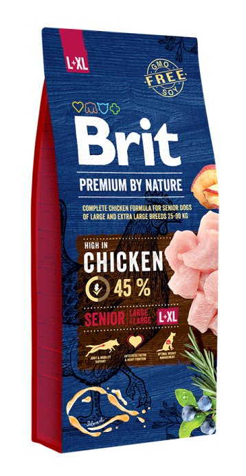 BRIT PREMIUM By Nature senior Large- XLarge 15kg.