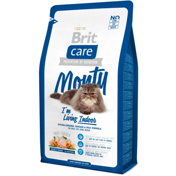 Kačių maistas Brit Care Cat Monty Indoor 7kg.