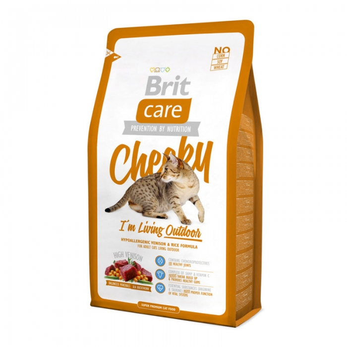 Kačių maistas Brit Care Cat Cheeky Outdoor 7kg.