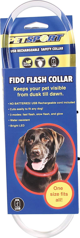 Šviečiantis antkaklis PetSport Flash LED iki 70cm