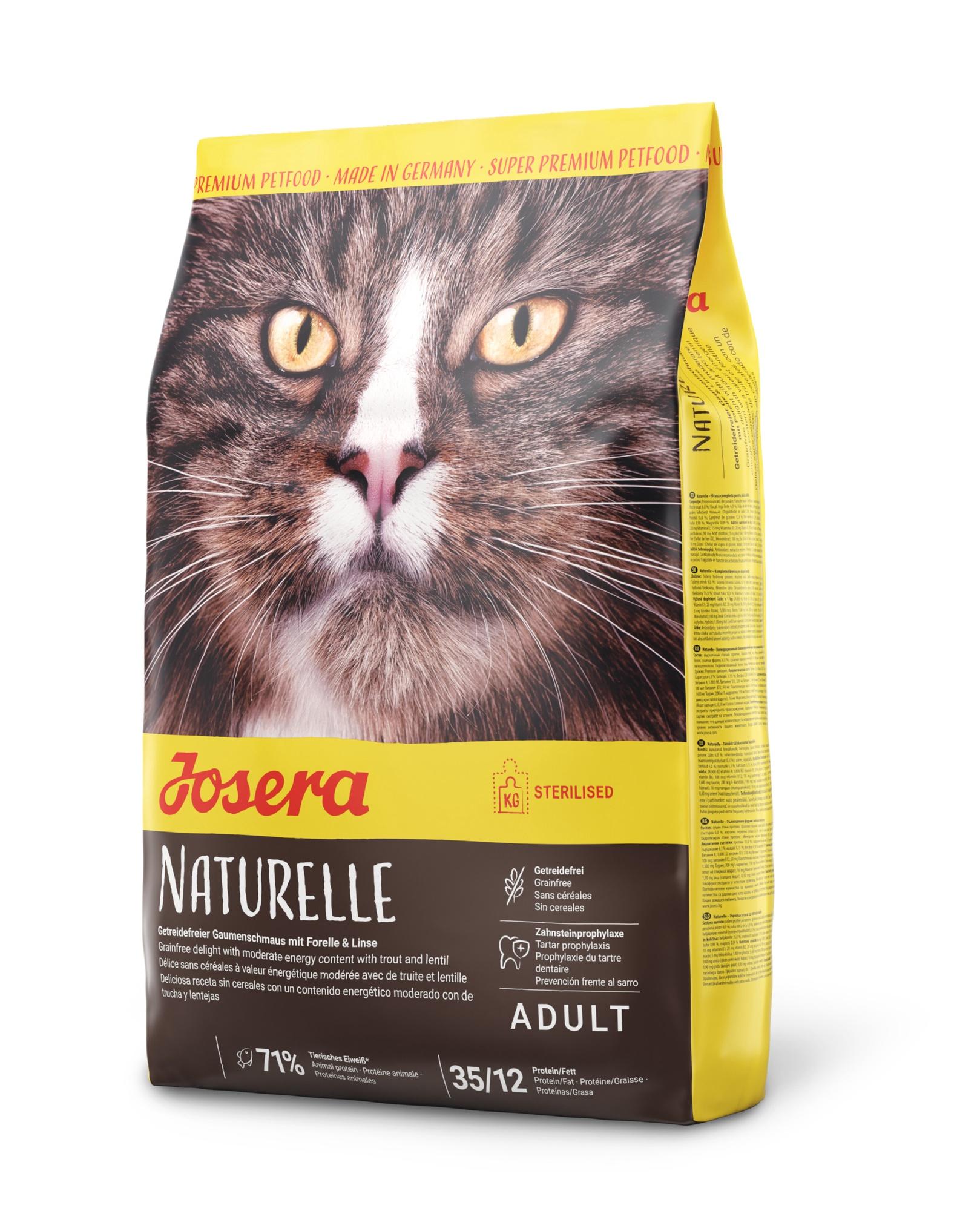 Begrūdis kačių maistas Josera Naturelle cat 10kg.