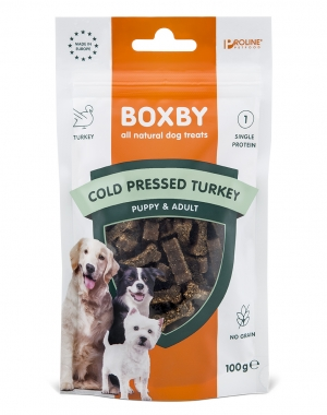 Boxby Grain Free Turkey Cold Pressed 100g.