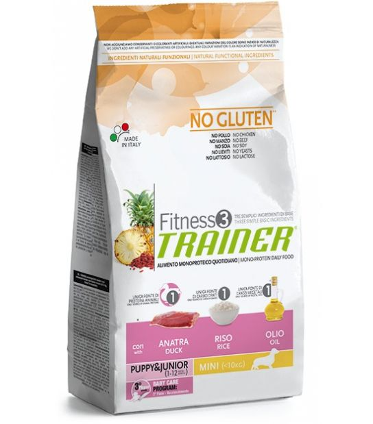 Trainer Fitness 3 Puppy&Junior Mini Duck*Rice*Oil  800gr.