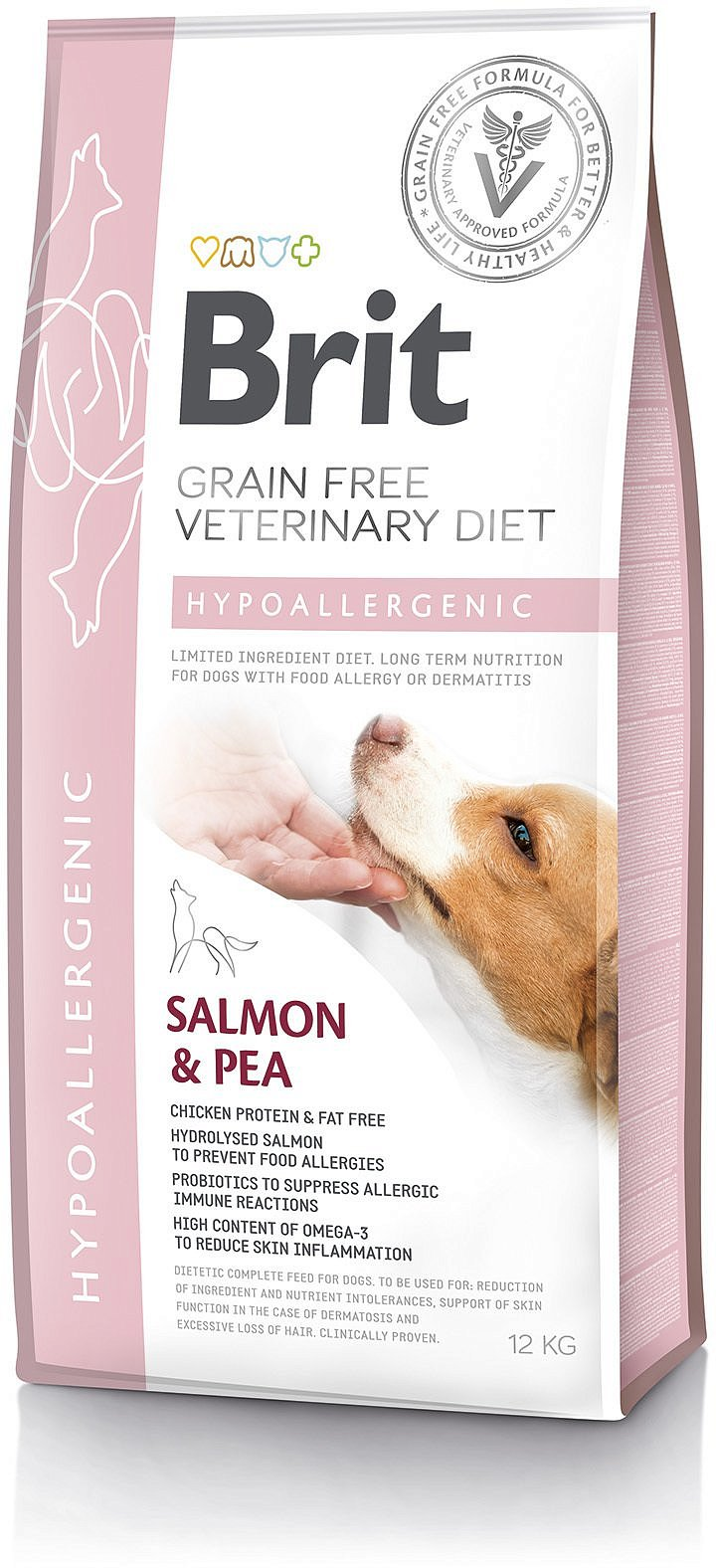 Brit Grain Free Veterinary Diets Dog Hypoallergenic 12kg