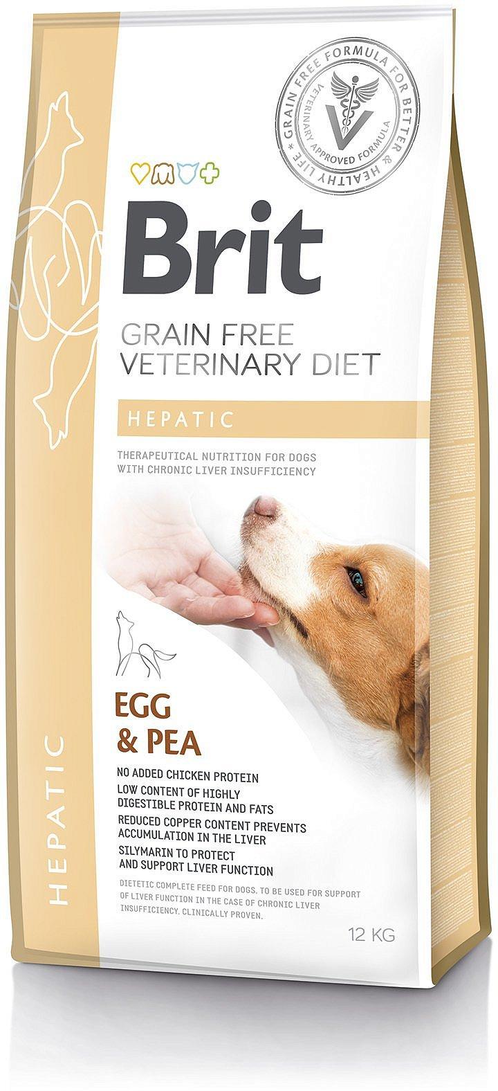 Brit Grain Free Veterinary Diets Dog Hepatic 12kg