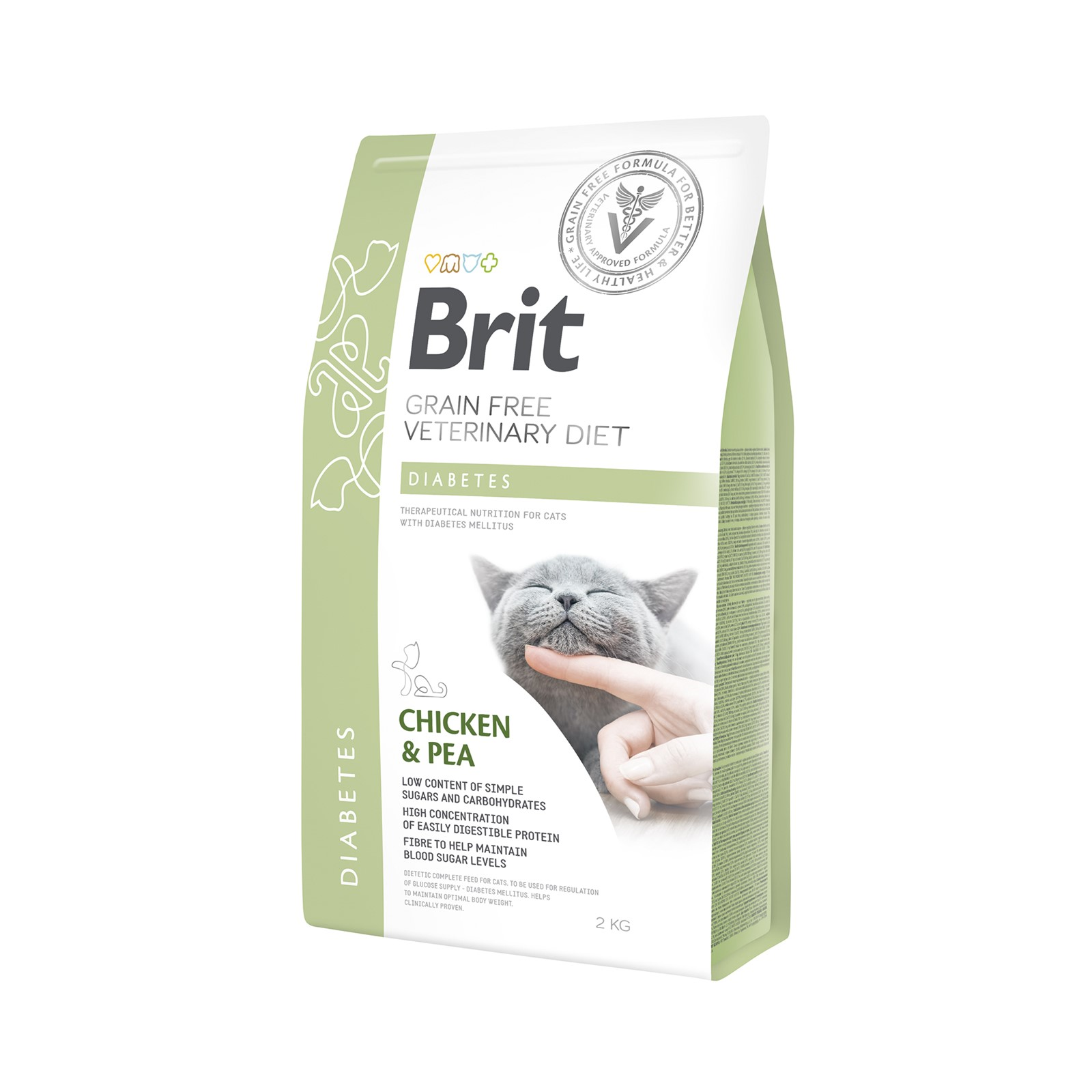 Brit Grain Free Veterinary Diets Cat Diabetes 2kg