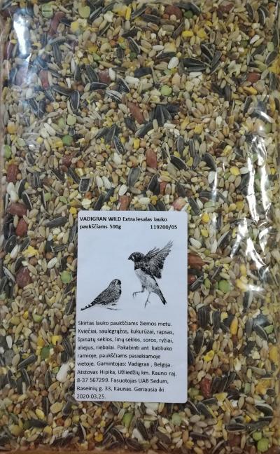 Vadigran lesalas žiemos paukščiams 500gr