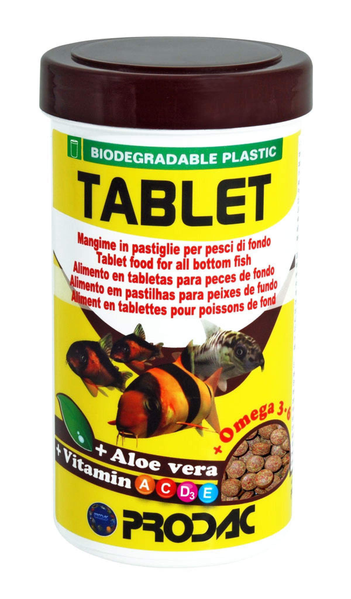 Maistas tabletėmis dugninėms žuvims 160gr 250ml